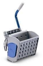 Kunststoff-Flachpresse mit Fiberglas, Farbe blau