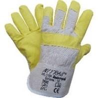 NITRAS Kunstlederhandschuhe Innenhandfütterung XL