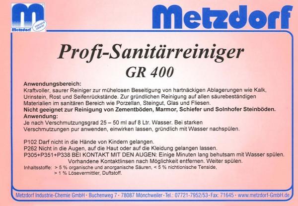 Sanitärreiniger GR 400 1 Ltr.