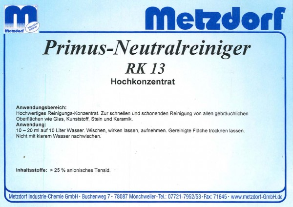 Neutralreiniger RK 13 1 Ltr.