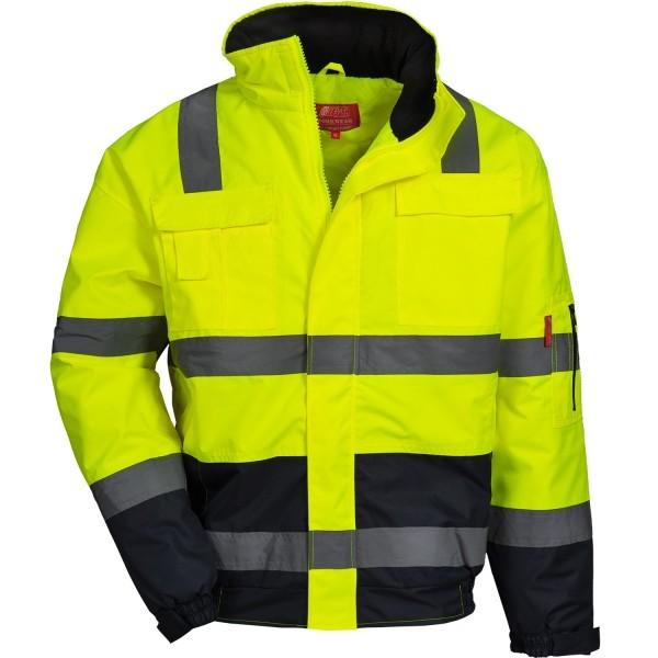HAWKEYE, Warnschutz-Pilotenjacke, neon-gelb/blau XXXXXL-Copy