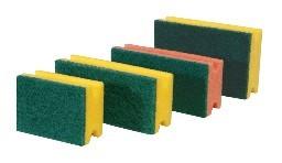 Schwamm gelb mit grünem Vlies 15x9x4,5cm