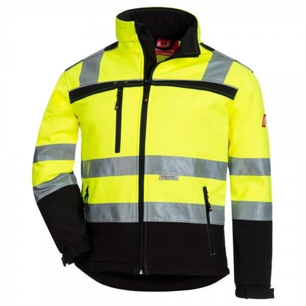 HAWKEYE Warnschutz Softshell Jacke neongelb M